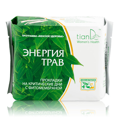 TianDe Eco Gentle Hygiene Pads Absorbent Herbal Energy Day Panty