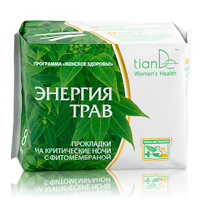 TianDe Eco Herbal Energies Night Phytomembrane Hygiene Pads