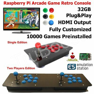 Raspberry Pi Arcade Game Retro Console All In One Plug & Play Single Two Players