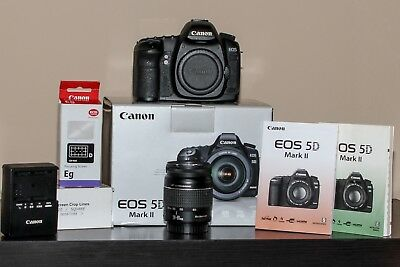 Canon EOS 5D Mark II 21.1MP Digital SLR Camera with Extras  NICE.  FREE SHIPPING