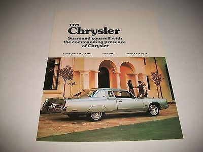 1977 Chrysler Sales Brochure Canadian New Yorker Newport Town & Country