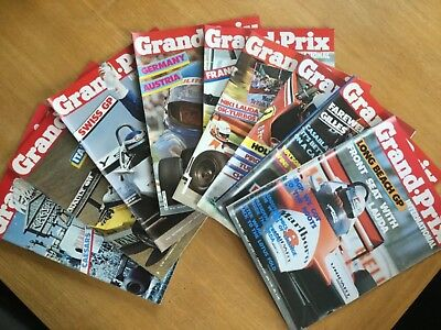 GRAND PRIX INTERNATIONAL Magazines. 9 different editions from 1982