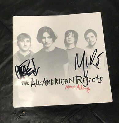 All-American Rejects Signed Autographed Move Along CD Linear Booklet