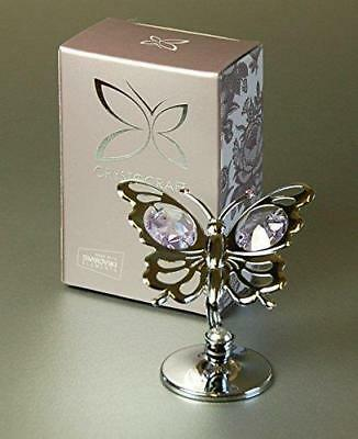 Crystocraft Mini Butterfly Swarovski Crystals Figurine Ornament Gift Present
