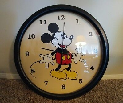 Large Vintage Disney Mickey Mouse Wall Clock Lane Co.