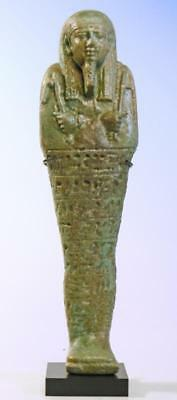 Egyptian Green Faience Ushabti  - Ancient Art & Antiquities