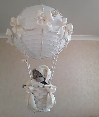 Tatty Teddy in Hot Air Balloon light lamp  shade    Made To Order