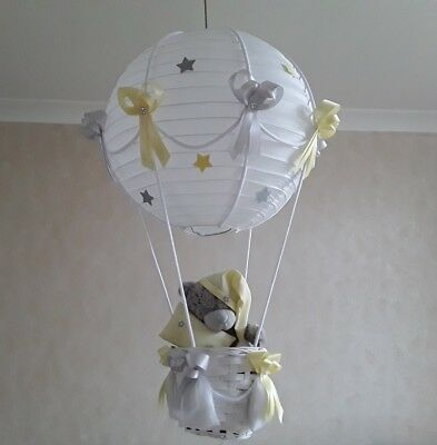 Tatty Teddy Hot Air Balloon Light Shade in yellow/grey Made to Order