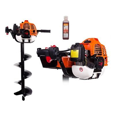 HQ Petrol Earth Auger Hole Borer 6.3 HP STRONG Dril 20 x 80 + Extension