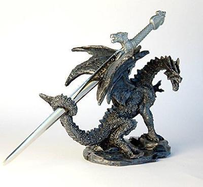 Dragon with Sword Ornament letter Opener Figurine Sculpture Dinosaur Dino Magic
