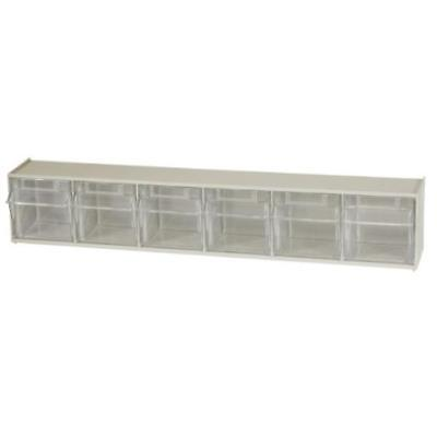 Akro-Mils 06706 Tiltview Horizontal Plastic Storage System With Six Tilt Out New