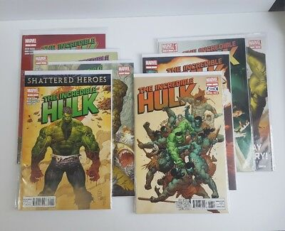 Incredible Hulk issues #1, 2, 3, 4, 6, 7, 7.1, 8 Marvel Comics 2011  VF / NM