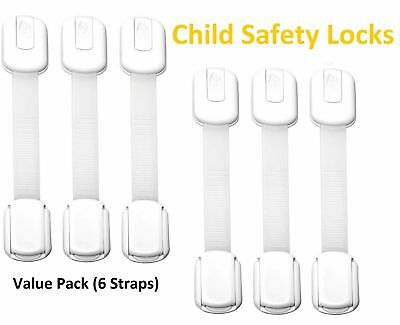 Haari's Child Proof Safety Locks -Baby Proofing Cabinet Latch- Adjustable Strap