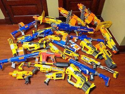 Nerf Huge Lot Office Birthday Party 29 Guns NO SINGLE SHOT JUNK *Free SHIPPING*