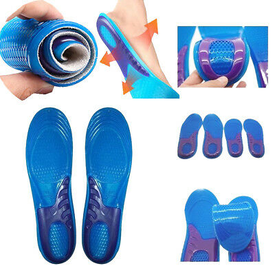 Gel Insole Feet Support Orthotic Gel Pain Relief Massaging Sport Shoe Insoles