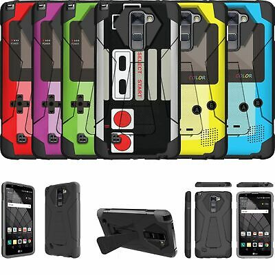 For LG Stylus 2 Plus | Stylo 2 Plus Shockproof Kickstand Bumper Case - Retro