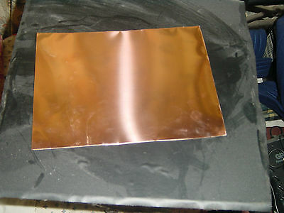 "COPPER SHEET 0.3mm 200mm x 150mm (8"" x 6"") GRADE C101"
