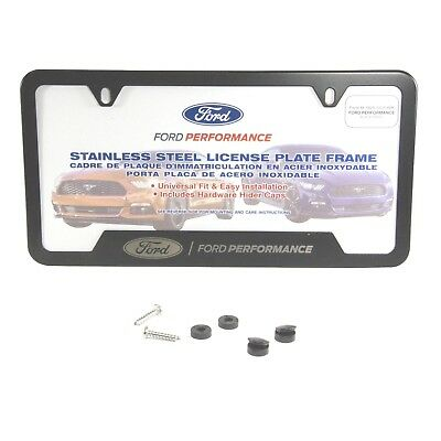 OEM NEW FORD Performance BLACK Stainless Steel License Plate Tag ...