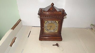 Antique oak ting tang bracket mantel clock(W & H) Winterhalder & Hofmeier.
