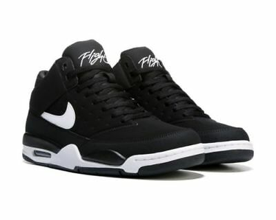 Nike Men's Size 8 Air Flight Classic Basketball Shoes Black/white 414967  091 New