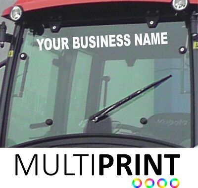 Personalised Business Tractor Sunstrip Sunvisor Decal Vinyl Sticker TRA5