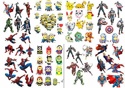 matt finish sticker decal superman spiderman superheros Hulk avenger party bag
