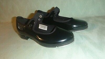 Bloch Child Girl Tap Shoes Black Patent - Size 11 1/2