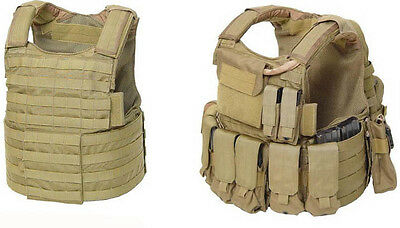 Eagle Industries CIRAS Combat Integrated Releasable Armor System Small Khaki