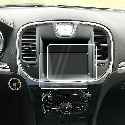 2 Chrysler 300 2011-18 Anti Scratch Touch Screen Saver Invisible Protector 8.4""