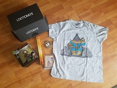 Loot Crate April 2018 NEW Lord of the Rings, Zelda, Marvel size M shirt