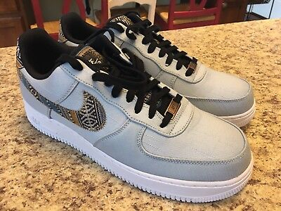 Nike Air Force 1 '07 Lv8 Low Size 11.5 White Black Armory Blue 718152 407