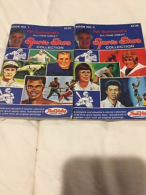 Set Of 4 Books Pat Summerall's All-Time Great Sports Stars Collection 1-4