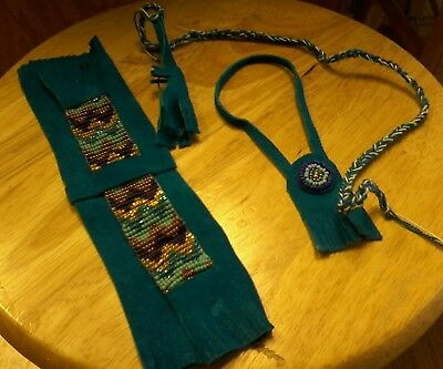 Johnny West Marx horse hand beaded Indian costume USA MADE