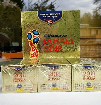 Panini 2018 World Cup GOLD Edition: 1 x Album + 3 x Box 100 Packets 1500 Sticker