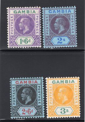 1904-09 Gambia. SC#82-85, SG#98-101. Mint, Lightly Hinged, VF.