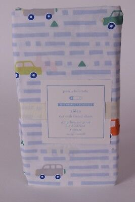 NWT Pottery Barn Kids Aiden cars crib fitted sheet