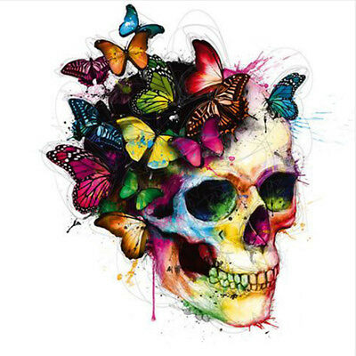 5D DIY Diamond Painting Butterfly Skull Head Embroidery Cross Stitch Kit Craft