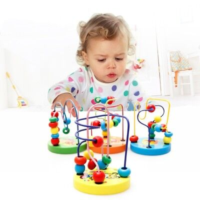 Baby Kids Educational Wooden Around Beads Toy Toddler Infant Intelligence Toys