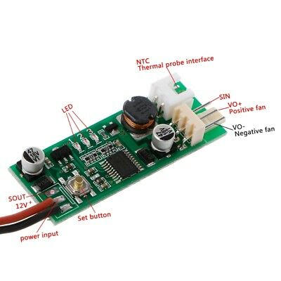 Temperature Speed Controler Denoised Speed Controller for PC Fan/Alarm DC 12V