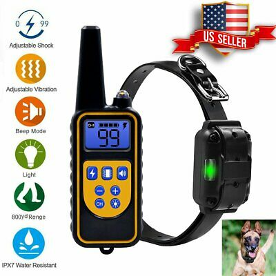 Dog Shock Collar With Remote Waterproof Electric For 800 Yard Pet Training USA