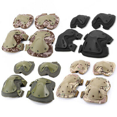 Tactical Paintball Airsoft Combat Knee Elbow Pad Set Military Army Gear MTP Camo