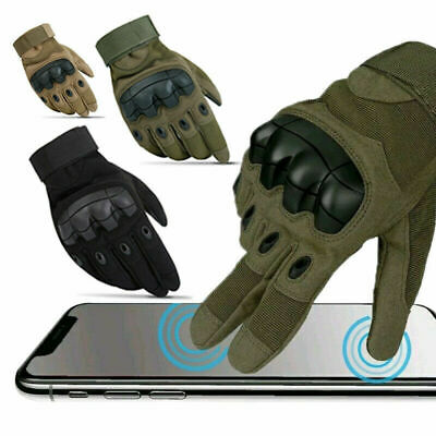 Tactical Hard Knuckle Full Finger Gloves Paintball Airsoft Security Police Work