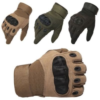 Tactical Hard Knuckle Gloves - Army Military Special Ops Combat Shooting Hunting
