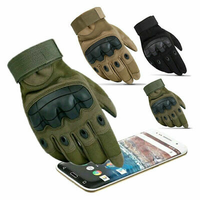 Tactical Hard Rubber Knuckle Gloves Army SAS Cadets Security Special Ops Police