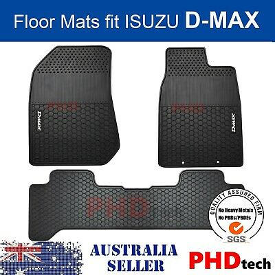 ISUZU D-MAX DMAX DUAL CREW CAB All Weather Rubber FLOOR MATS SET 2012 On wards