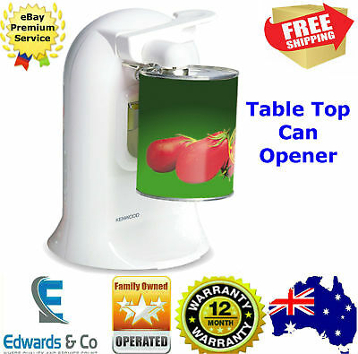 Electric Can Opener Table Top Automatic Bottle Opener Knife Sharpener Kenwood