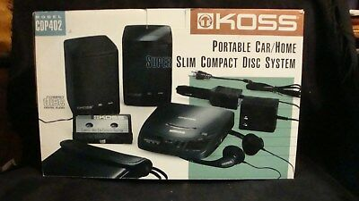 NIB Vintage CD Player Bundle NIB Koss BUNDLE (CDP402 Series) Speakers, etc