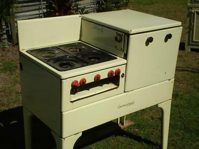 vintage Carmichael Gas cooker stove 1950s enamal finish on legs and stove parts