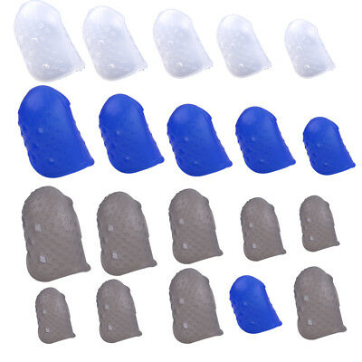 12pcs Silicone Guitar Bass Ukulele Finger Guard Fingertip Thumb Picks Protectors