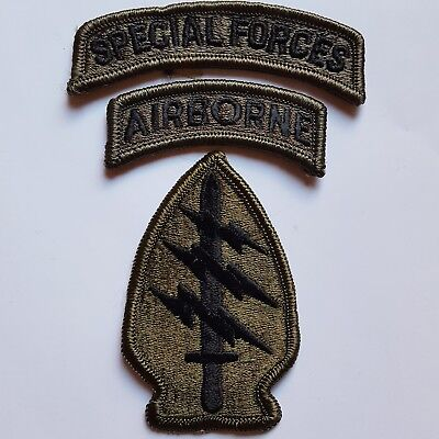 U.s. Army Special Forces Group Subdued Oliv Aufnäher Patch Original